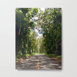 Tree Tunnel, Kauai, Hawaii Metal Print