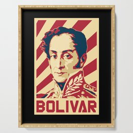 Simon Bolivar Venezuela Retro Propaganda Serving Tray