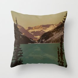 Alberta Lake Louise Travel Poster Throw Pillow