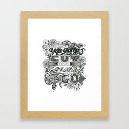 Cut Your Losses Framed Art Print