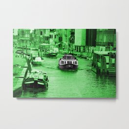 Green Venitio Metal Print