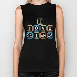 Top Fun I Love Science Periodic Table Gift Design Biker Tank