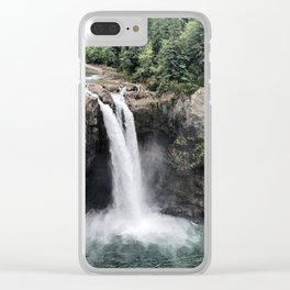 Snoqualmie Falls #2 Clear iPhone Case
