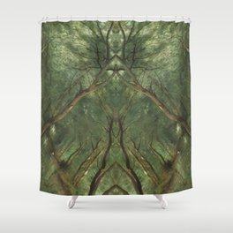 Idealism & Dimension  -  Psychedelic Nature Art Shower Curtain