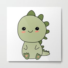 Sweet Little Dinosaur Metal Print