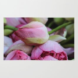 Big Closed Lotos Flower pink Photography Rug