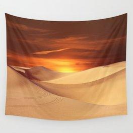 The Sunset On Desert Wall Tapestry