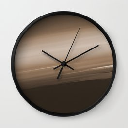 Sepia Brown Ombre Wall Clock