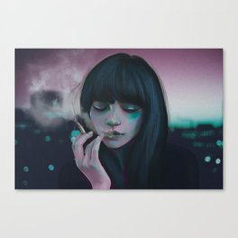 Indie Electro sunset Canvas Print