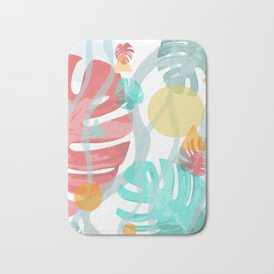 Wild Monstera Bath Mat