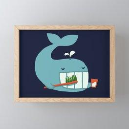 Brush Your Teeth Framed Mini Art Print