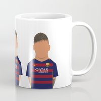 messi Mugs featuring Messi - Suárez - Neymar by Joel Pons