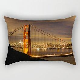 Golden Gate Bridge at Night Rectangular Pillow