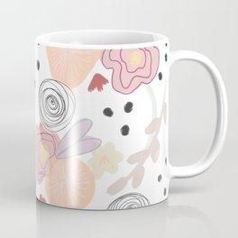 Peachy Flower Babies Coffee Mug