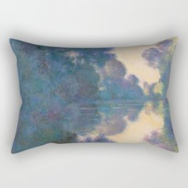 "Claude Monet ""Morning on the Seine near Giverny"" Rectangular Pillow"