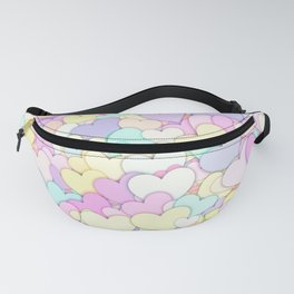 Cute Pastel Hearts 3 Fanny Pack