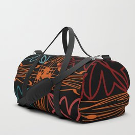 Teal Motif Duffle Bag