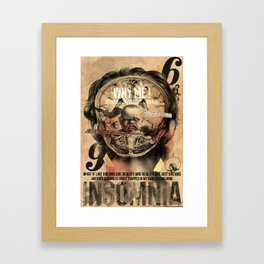 İnsomnia Framed Art Print