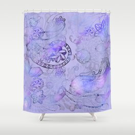 Paisley Glow Lilac Shower Curtain