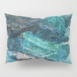 Cerulean Blue Marble Pillow Sham