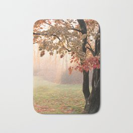 Japanese Maple at Sunrise in Fall Bath Mat