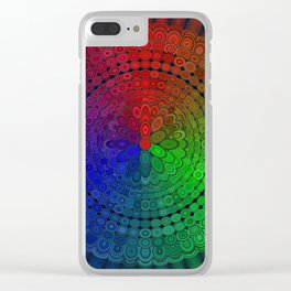 RGB Mandala Clear iPhone Case