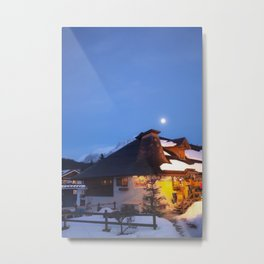 Alp Chalet Metal Print