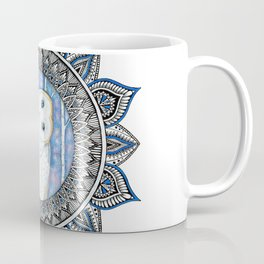 Winter Barn Owl Mandala Coffee Mug
