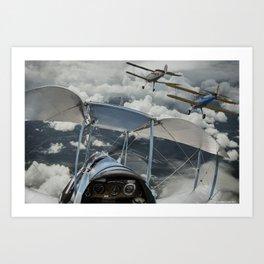 Biplane squadron Art Print