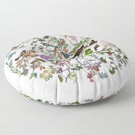 bird menagerie Floor Pillow