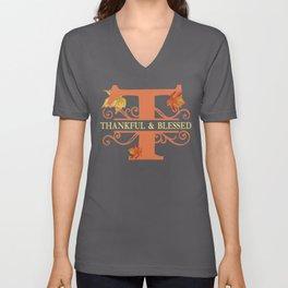 Thanksgiving T Monogram Unisex V-Neck