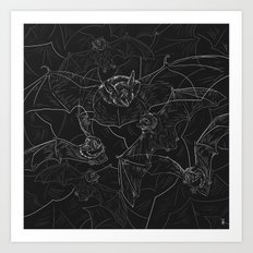 Bat Attack Art Print