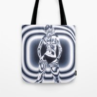 bond Tote Bags featuring Bond Girl by Brian Raggatt