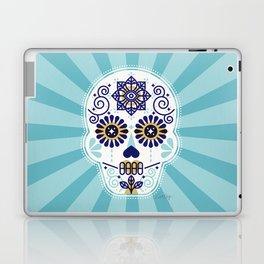 Día de Muertos • Mexican Sugar Skull – Baby Blue Palette Laptop & iPad Skin