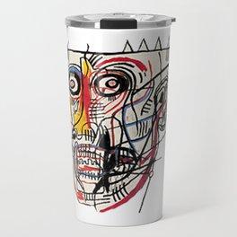 Basquiat Crazy Head Travel Mug