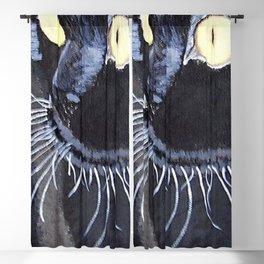 black cat Blackout Curtain