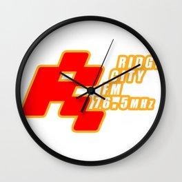 Ridge City FM 76.5 MHz Retro Gaming Video Game Wall Clock
