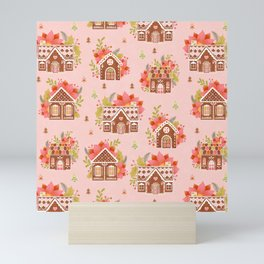 Gingerbread Houses Mini Art Print