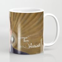 "tom hiddleston Mugs featuring Tom Hiddleston - ""Love Your Life"" by Angi"