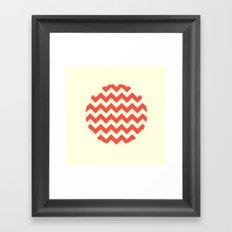 Chevron Full Circle Framed Art Print