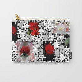 poppy love in puzzle design Carry-All Pouch