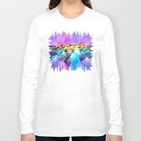 data Long Sleeve T-shirts featuring Data Sea by NatalieCatLee