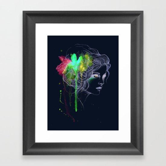 Water Flowers Framed Art Print