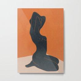 Abstract Nude IV Metal Print