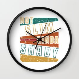 "Nice Leg Gym Day Shirt ""Not Slim Kinda Shady"" T-shirt Design Dumbbell Injury Injured Fitness Wall Clock"
