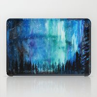 northern lights iPad Cases featuring Northern Lights by VivianLohArts