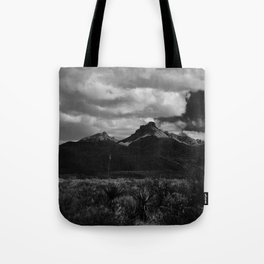 Dramatic Clouds over Mountain Range in Big Bend Tote Bag