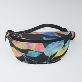 Colored Leaf Pattern Fanny Pack