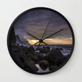 Na Pali Coast Sunset, Kauai Wall Clock