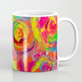 Abstract Relief Impasto Textured Modern Abstract Paintig - Detail from Gypsy Dance 11 Coffee Mug